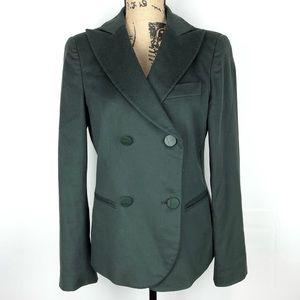 Giorgio Armani Cashmere Blazer Silk Lined Green
